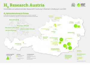 Forschung an grünen Wasserstofftechnologien ist ein zentraler Baustein am Weg zur Klimaneutralität. 18 (außer-)universitäre Forschungseinrichtungen arbeiten in Österreich daran und sind nun in der H2 Research Map mit Kompetenzen, Laboren und Kontakten erfasst.